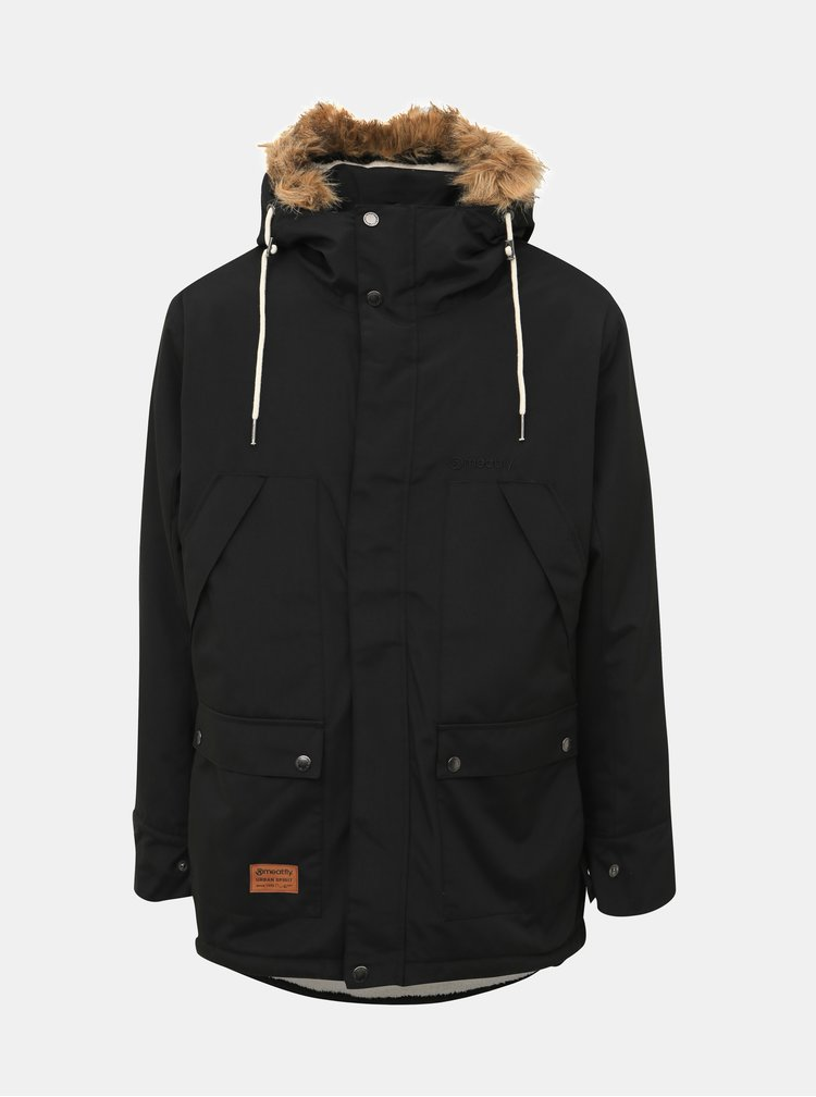 Čierna pánska funkčná zimná bunda Meatfly Rodney