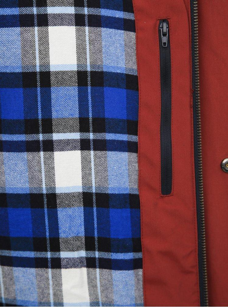 Vínovo-modrá pánska funkčná zimná bunda Meatfly Dandy