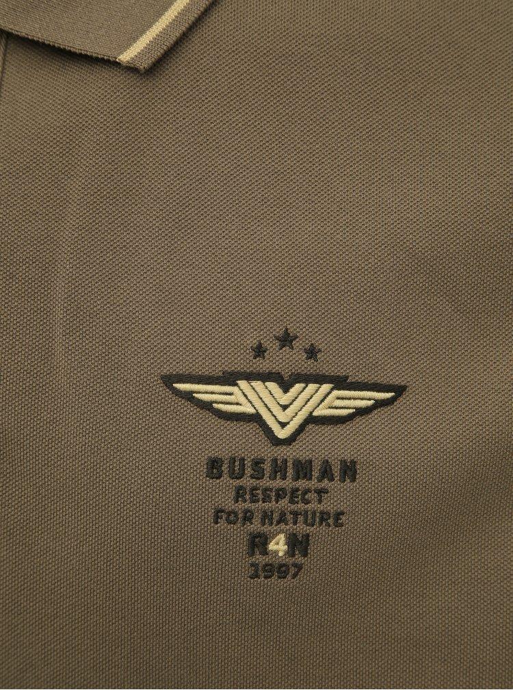 Hnedá pánska polokošeľa BUSHMAN Cabot