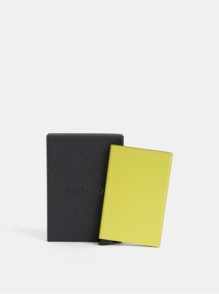 Žluté hliníkové pouzdro na karty Secrid Cardprotector