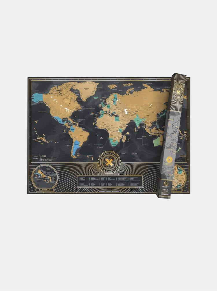 Šedá stírací mapa Luckies X Edition