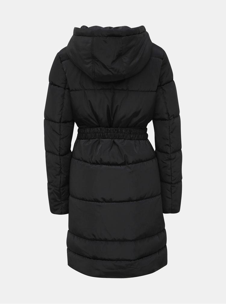 Černý prošívaný zimní kabát ONLY Tomine