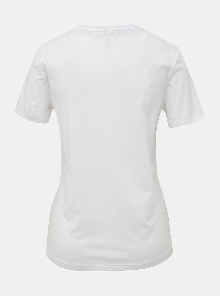 Bílé tričko s potiskem ONLY Sadie