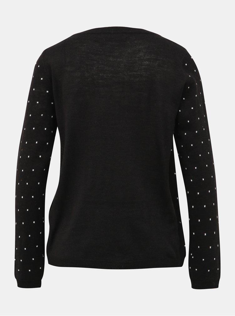 Černý svetr s vánočním motivem ONLY Oh Snap