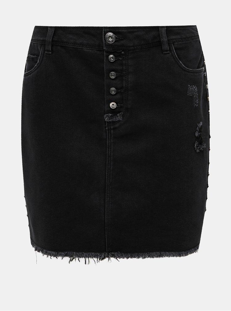 Čierna rifľová sukňa Noisy May William