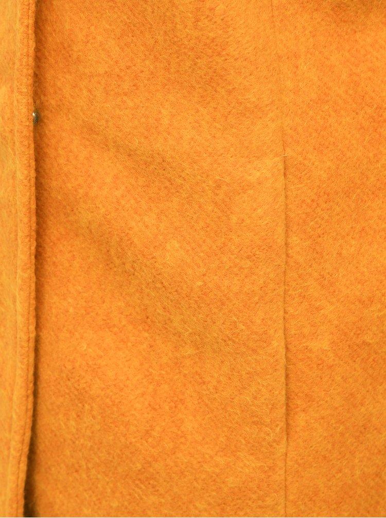 Horčicový kabát ONLY Sedona