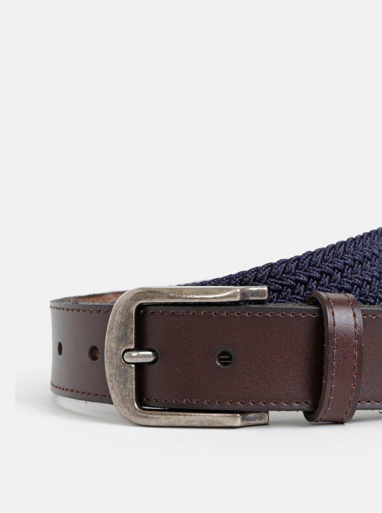 Modrý kožený pásek ONLY & SONS Cas