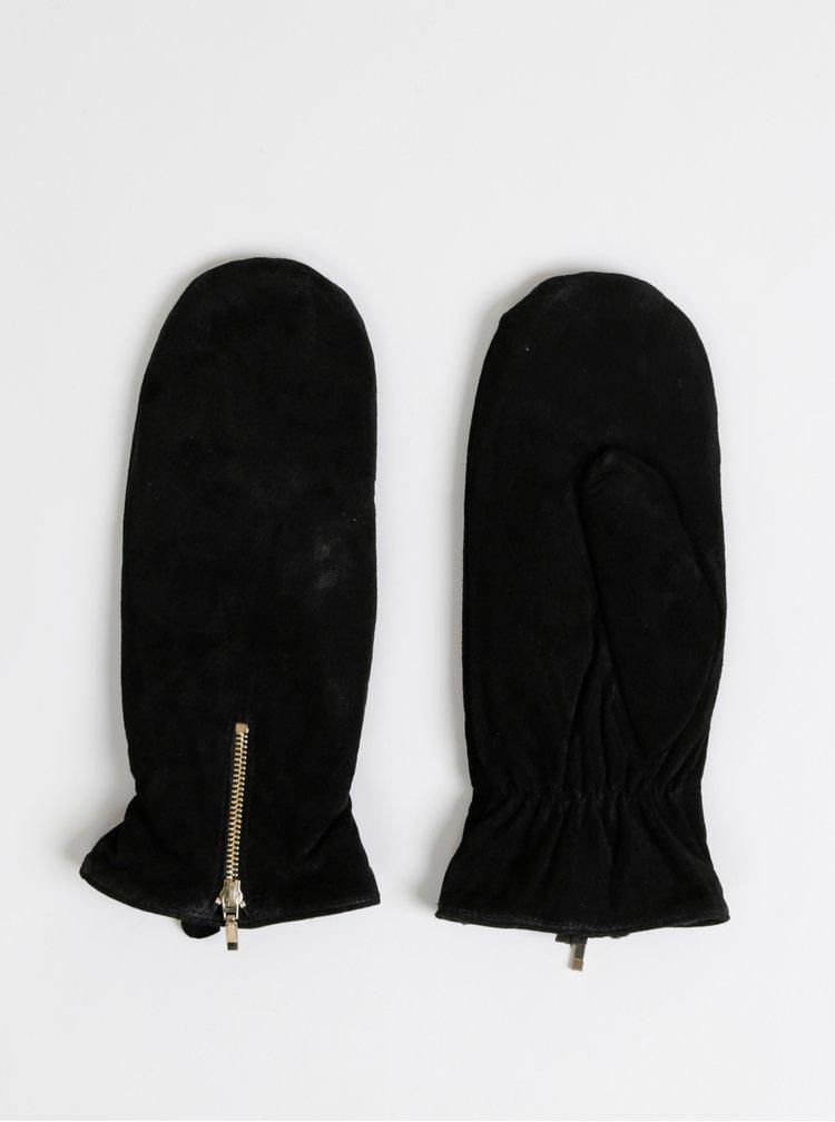 Černé kožené palčáky ONLY Mille