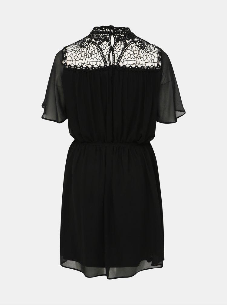 Čierne šaty s krajkou ONLY CARMAKOMA Catty