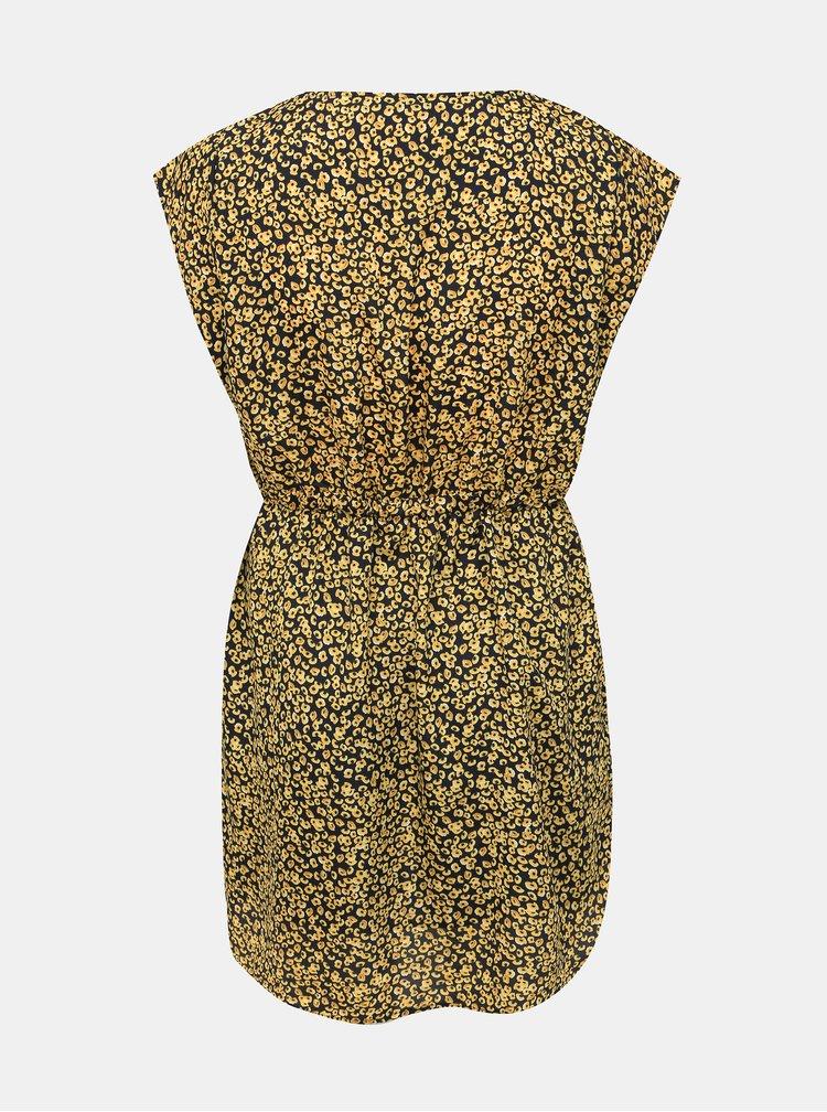 Žlté vzorované šaty ONLY CARMAKOMA Grapy