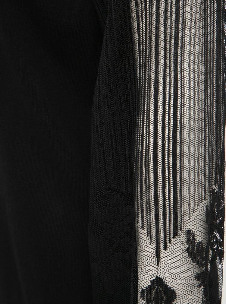 Černý svetr s krajkou ONLY Lacey