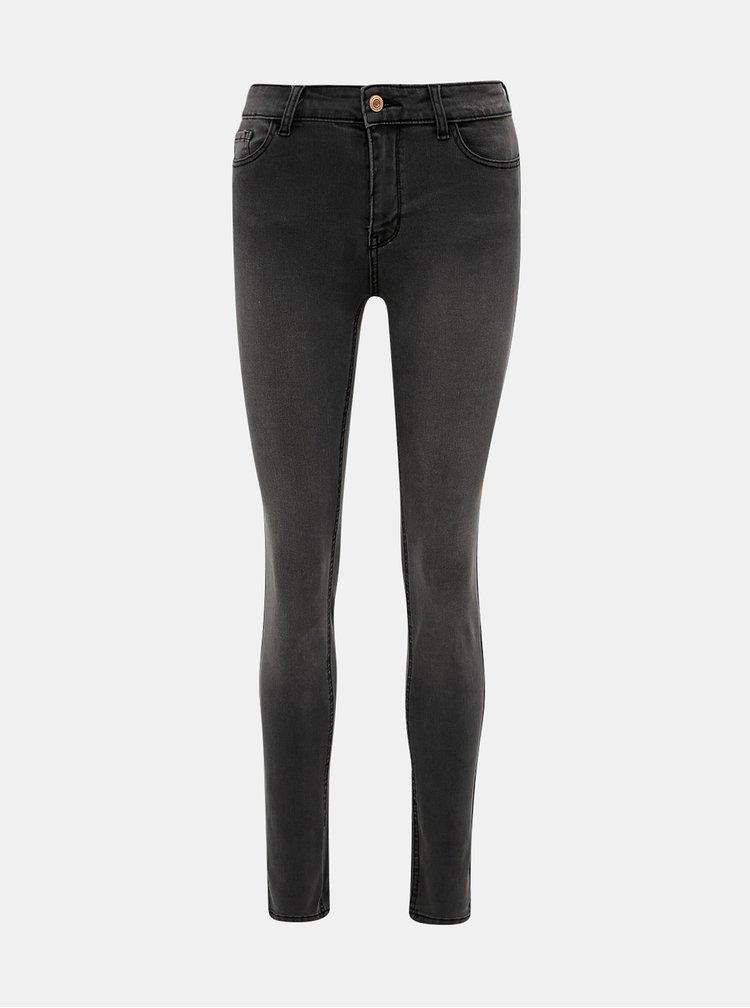 Tmavě šedé skinny fit džíny ONLY Anne