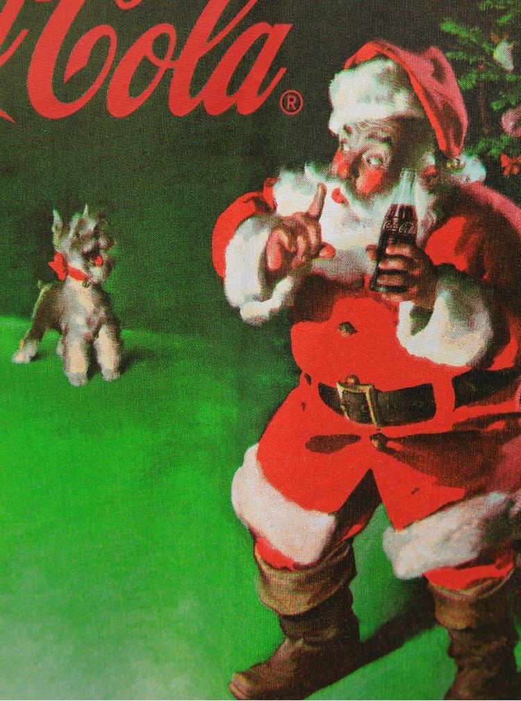 Zelená mikina s vianočným motívom ONLY & SONS Coca Cola