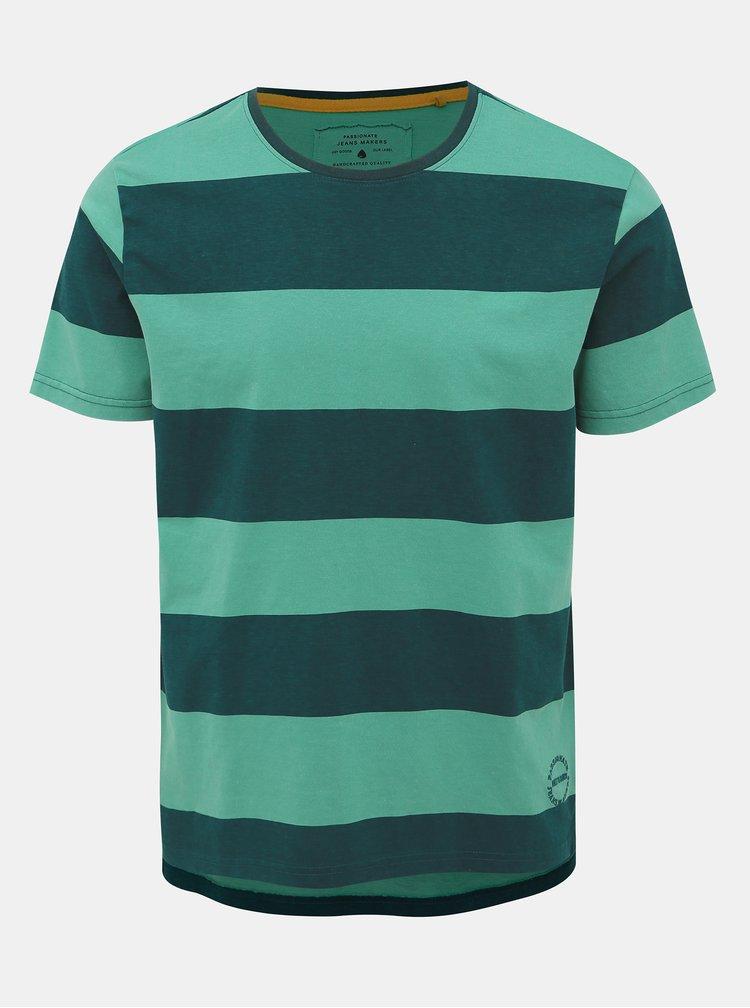 Zelené pruhované tričko ONLY & SONS Next