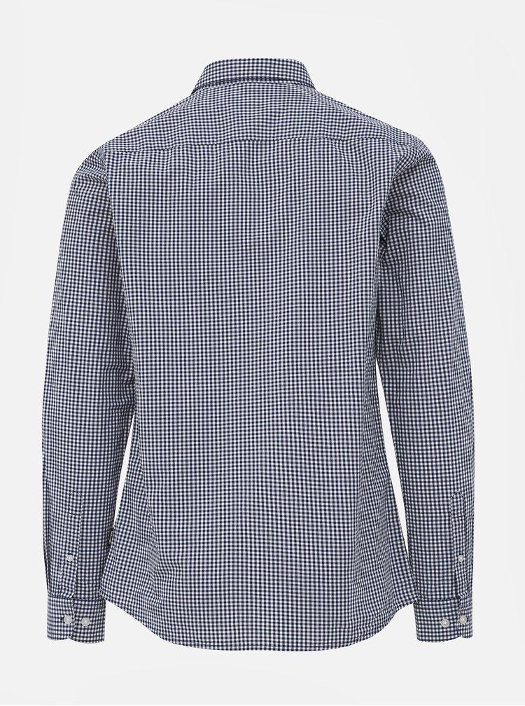 Bílo-modrá kostkovaná slim fit košile ONLY & SONS Jade