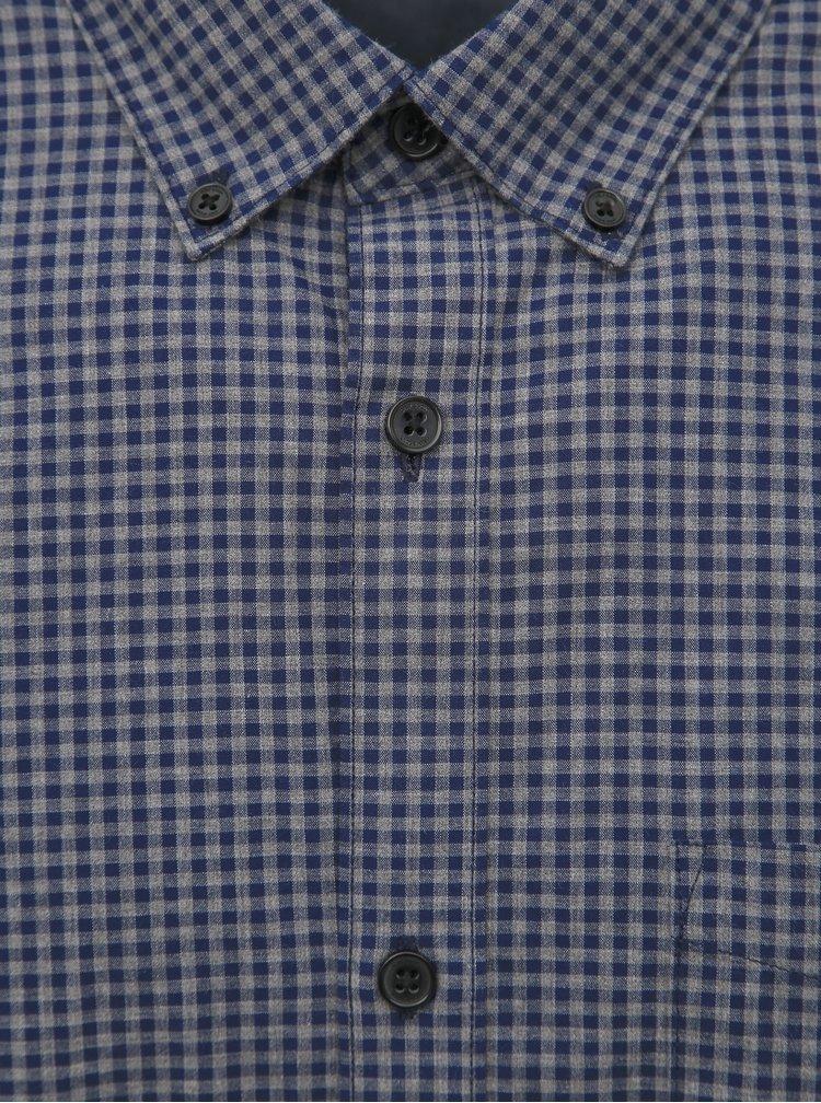 Modro-šedá kockovaná slim fit košeľa ONLY & SONS Jade
