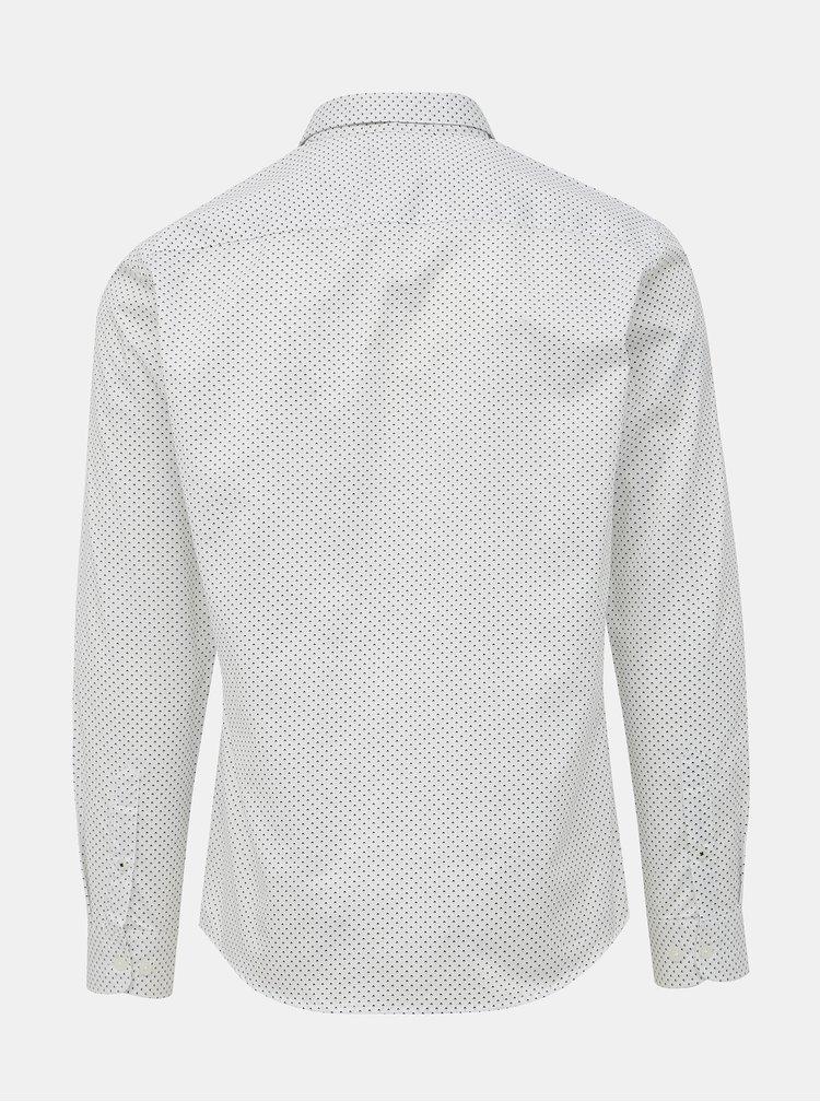 Biela vzorovaná slim fit košeľa ONLY & SONS Alves