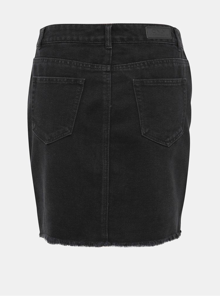 Černá džínová sukně s lampasem ONLY Sky Leo