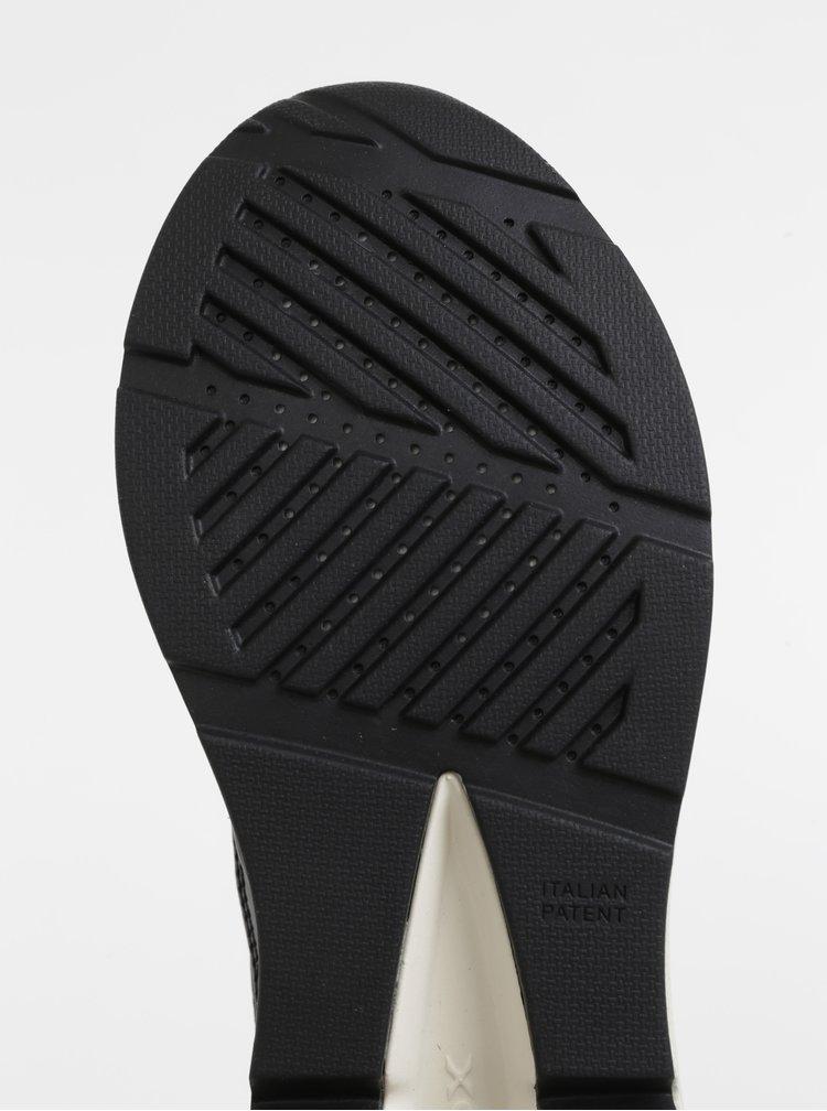 Čierne dámske tenisky s leopardím vzorom Geox Backsie
