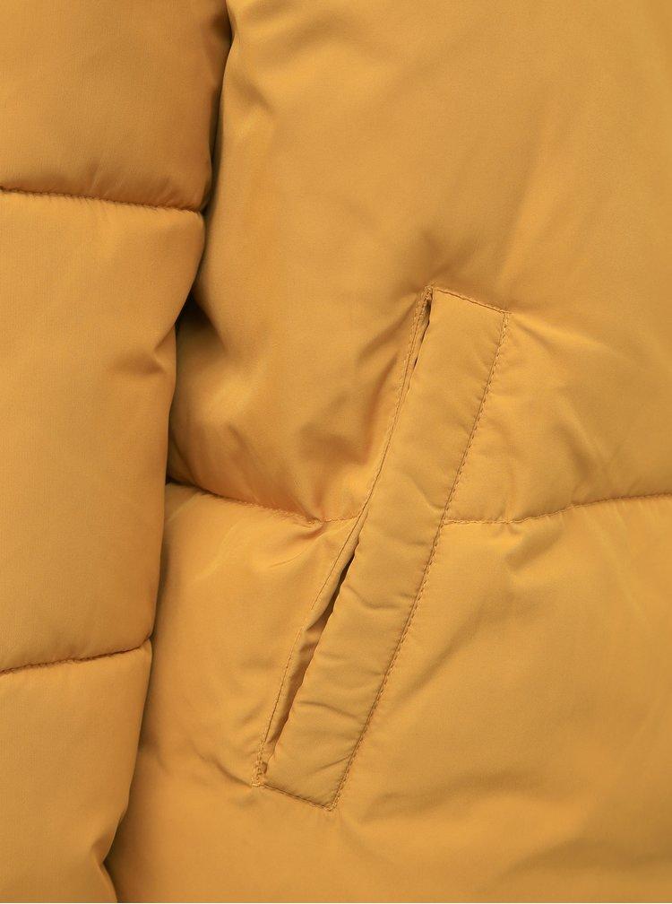 Horčicová zimná prešívaná bunda Jacqueline de Yong Erica