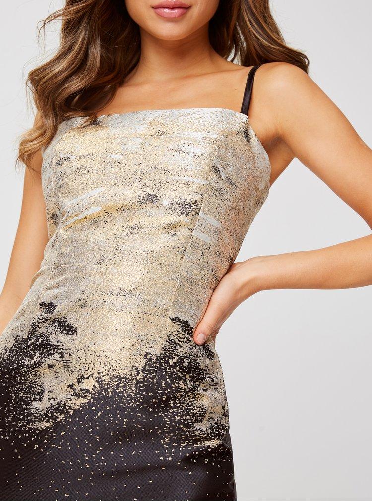 Pouzdrové šaty ve zlato-černé barvě Little Mistress