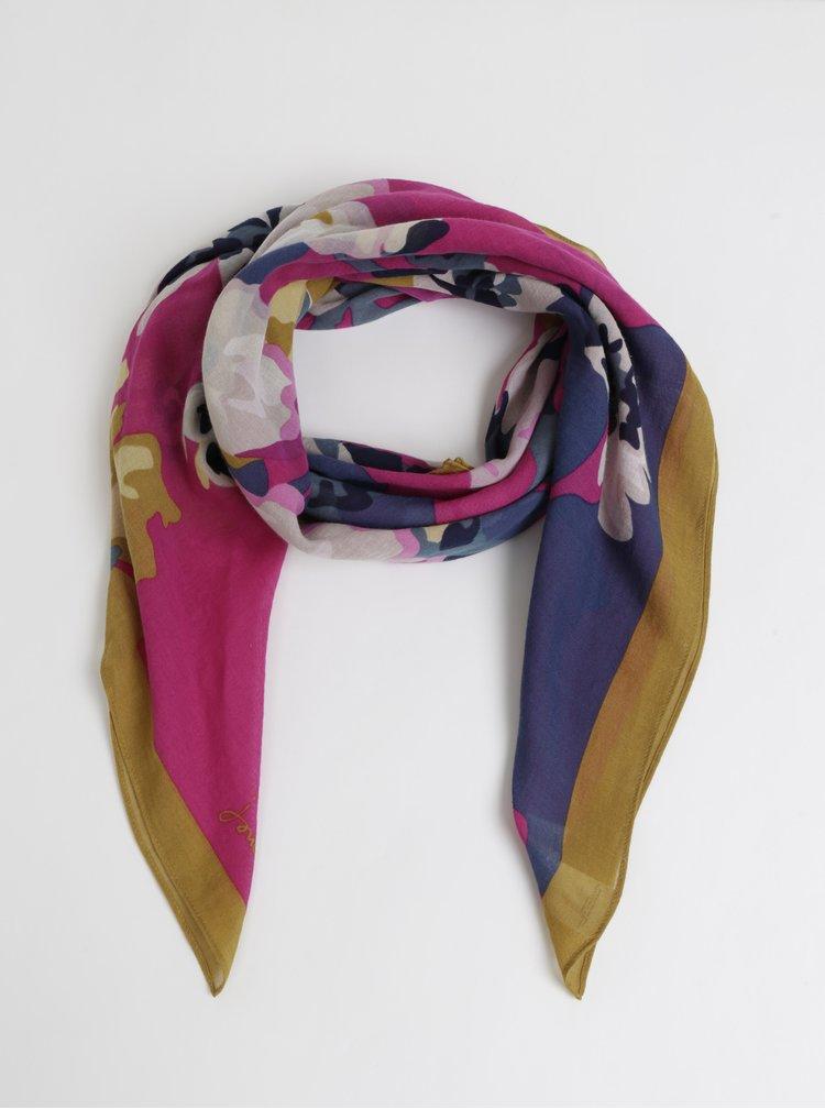 Růžový květovaný šátek Tom Joule Camfloral