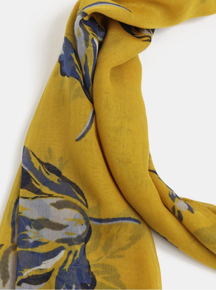 Hořčicový květovaný šátek Tom Joule Wensley