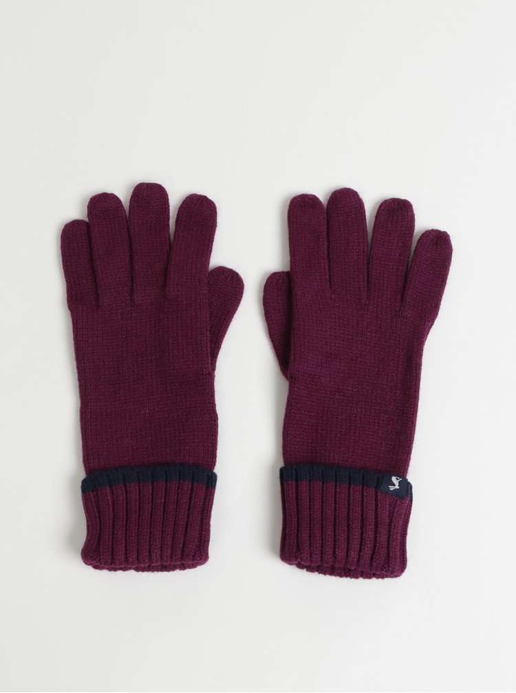 Fialové rukavice Tom Joule Snowday
