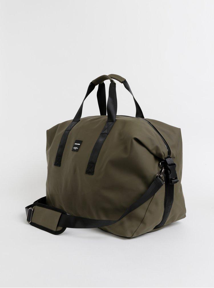 Kaki cestovná taška Jack & Jones Ronny