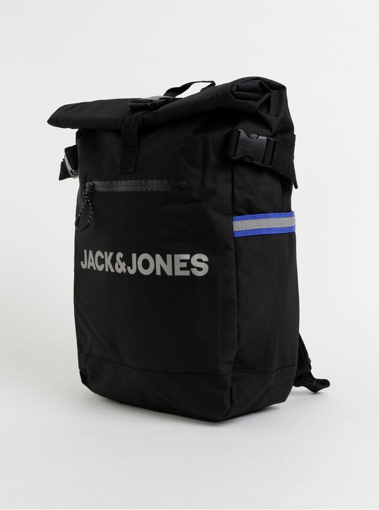 Černý batoh s potiskem Jack & Jones Ben Roll