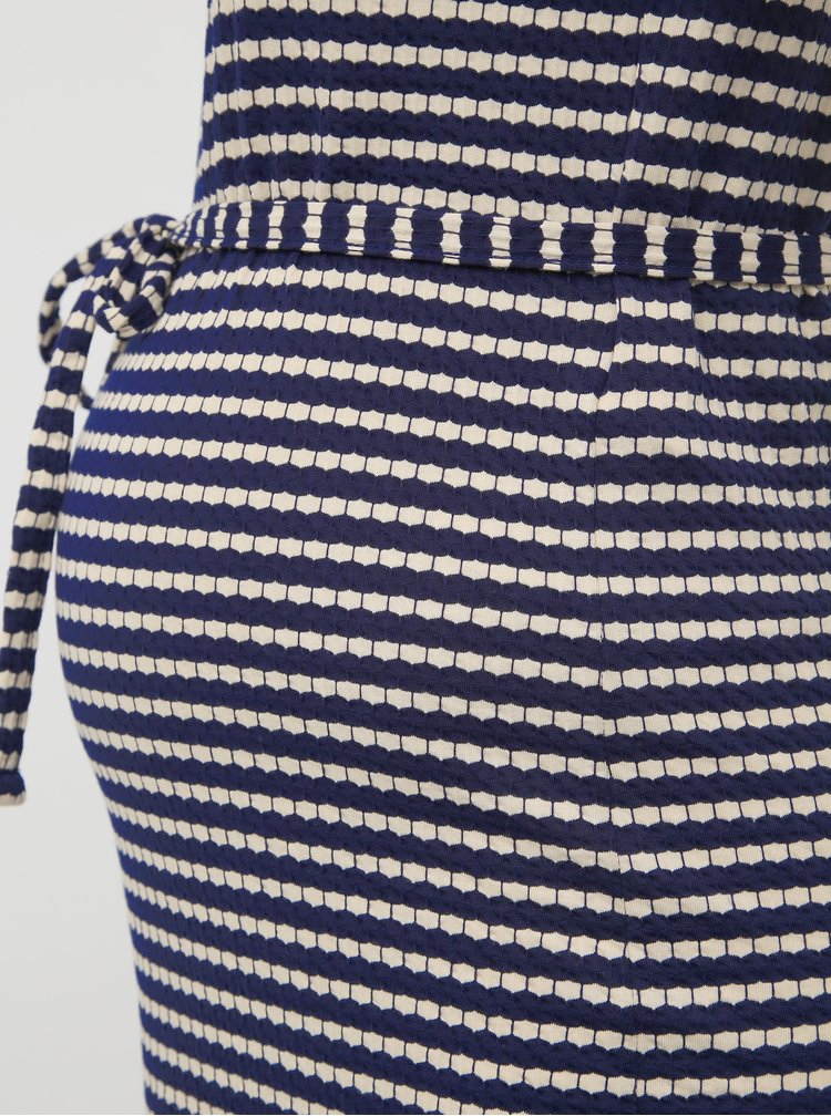 Tmavě modré vzorované těhotenské šaty Mama.licious Aluna