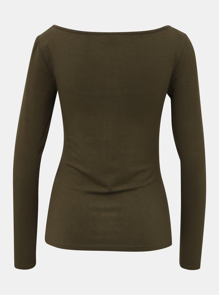 Khaki basic tričko Noisy May Mena