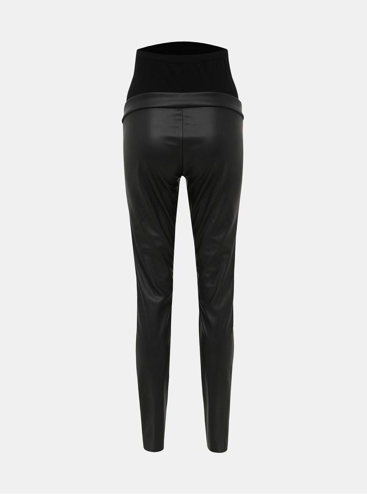 Čierne koženkové tehotenské nohavice Mama.licious Ben