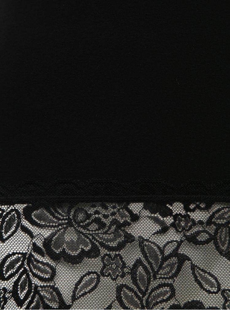 Čierne dámske tielko s krajkou Haily´s Melly