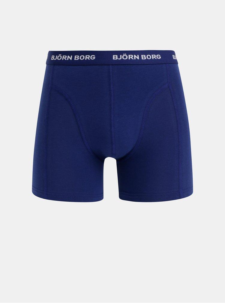 Sada piatich boxeriek v modrej, čiernej a šedej farbe Björn Borg Flower Solid