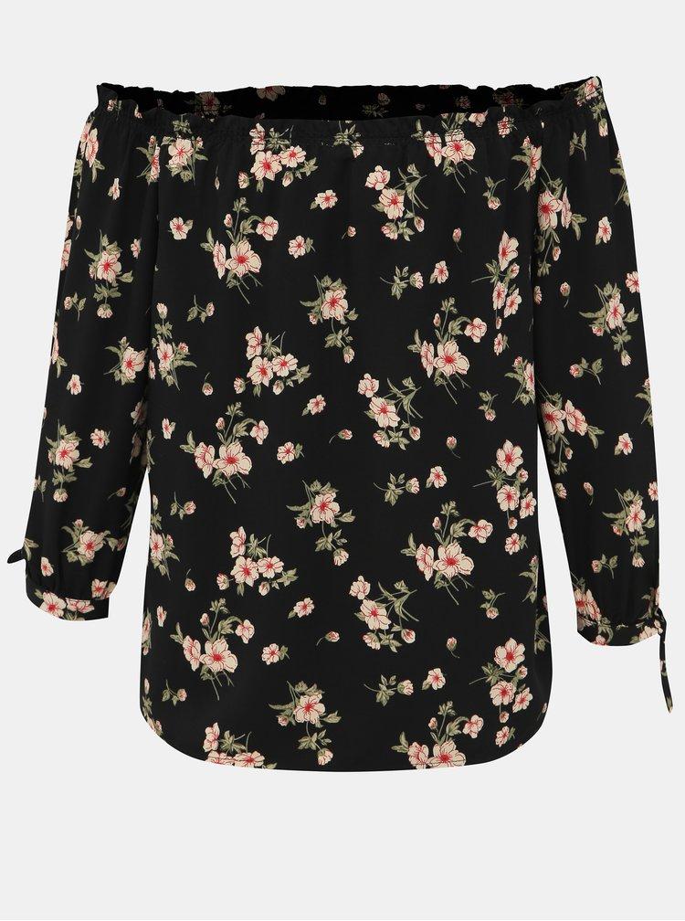 Čierna dámska kvetovaná blúzka Haily´s Vanny