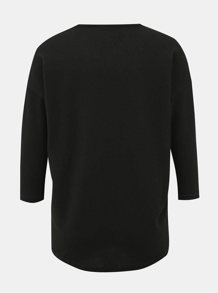 Čierny dámsky sveter s korálkami Haily´s Fiona