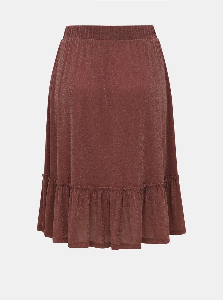 Staroružová sukňa Noisy May Shimmy