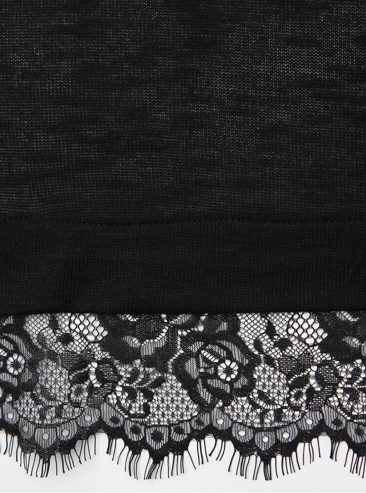 Čierny dámsky top s krajkou Haily´s Milla