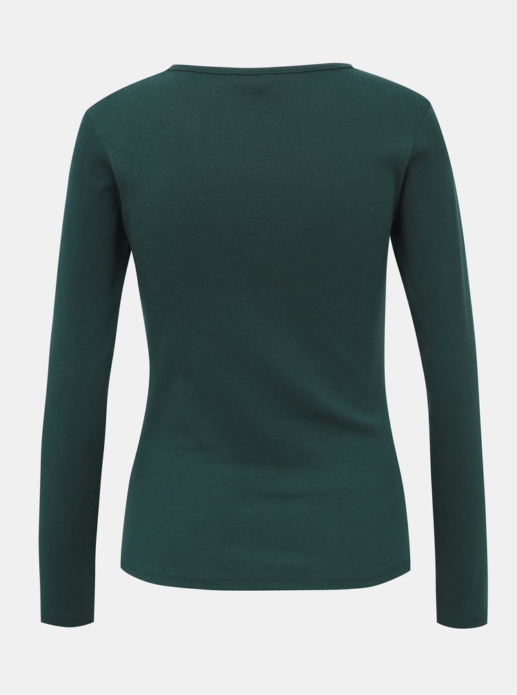 Tmavozelené dámske basic tričko Haily´s Donna