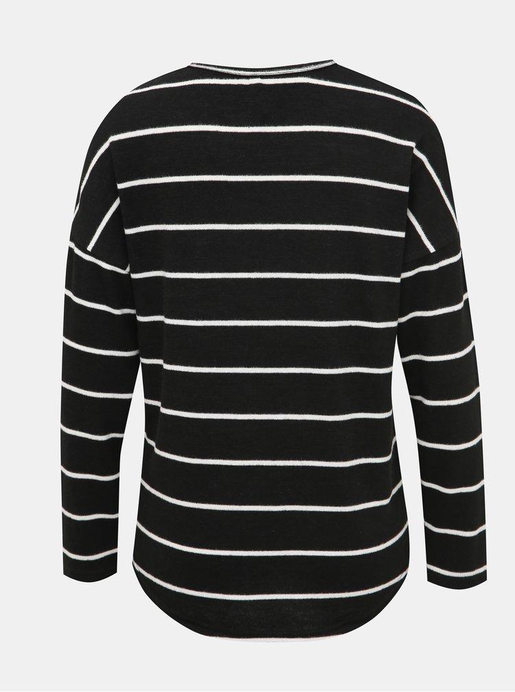Černý dámský pruhovaný svetr Haily´s Elisa