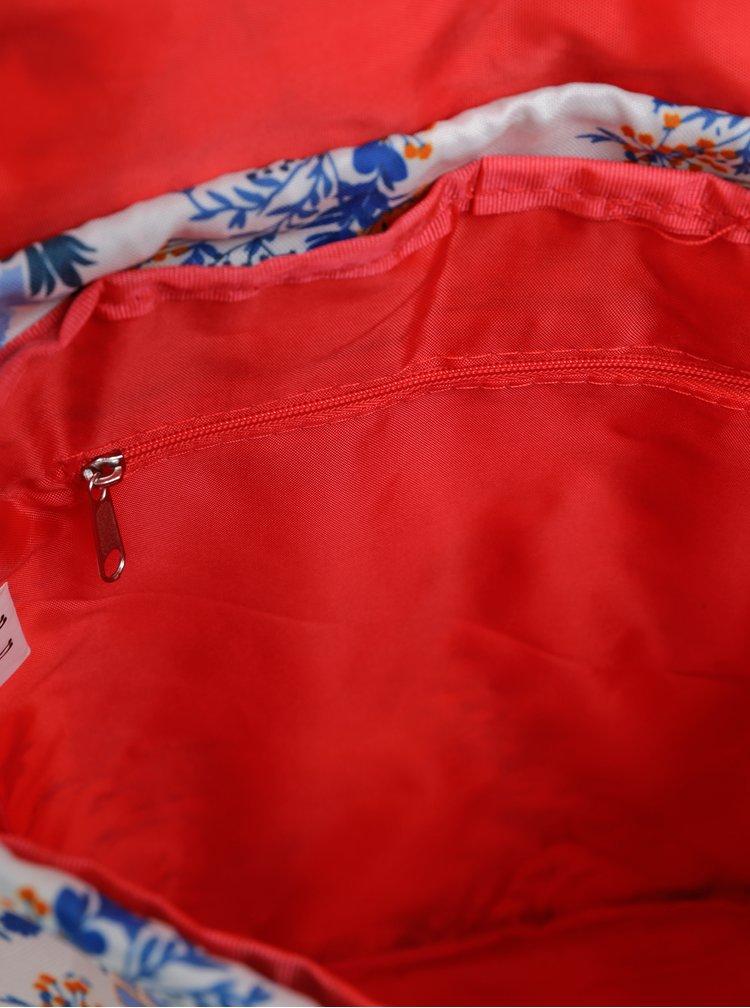 Bílý dámský květovaný batoh The Pack Society 10 l