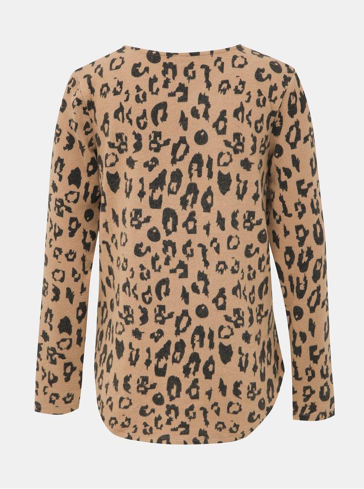 Béžový dámský svetr s leopardím vzorem Haily´s Luzy