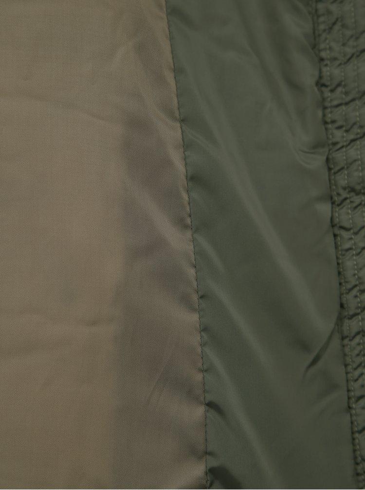 Tmavě zelená zimní prošívaná bunda VERO MODA Simone