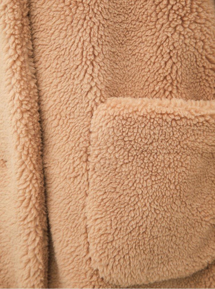 Béžový kabát z umělé kožešiny Dorothy Perkins Tall