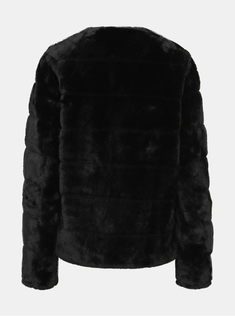 Černý krátký kabát z umělé kožešiny Dorothy Perkins Tall