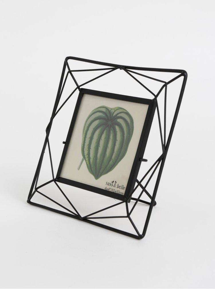 Černý kovový fotorámeček Sass & Belle 10 x 10 cm