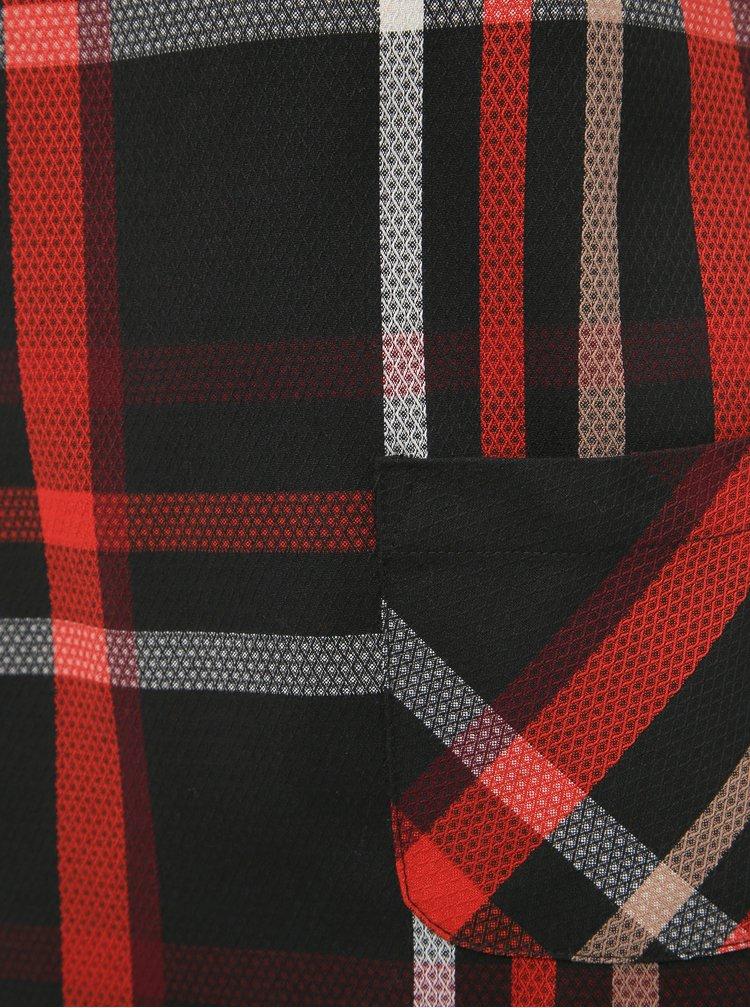 Červeno-černé kostkované šaty Dorothy Perkins Petite