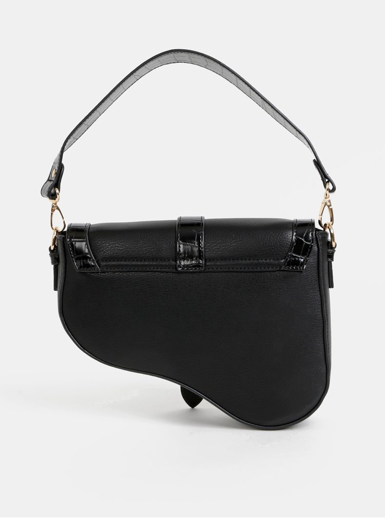 Černá crossbody kabelka s krokodýlím vzorem Dorothy Perkins