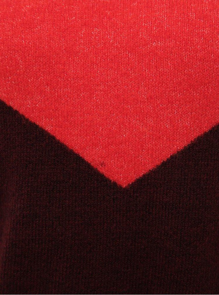 Červeno-vínový svetr VERO MODA Rana